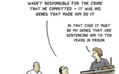 Genes influence Most were reluctant to accept claims for diminished responsibility or pleas for reduced sentences based on genetic excuses