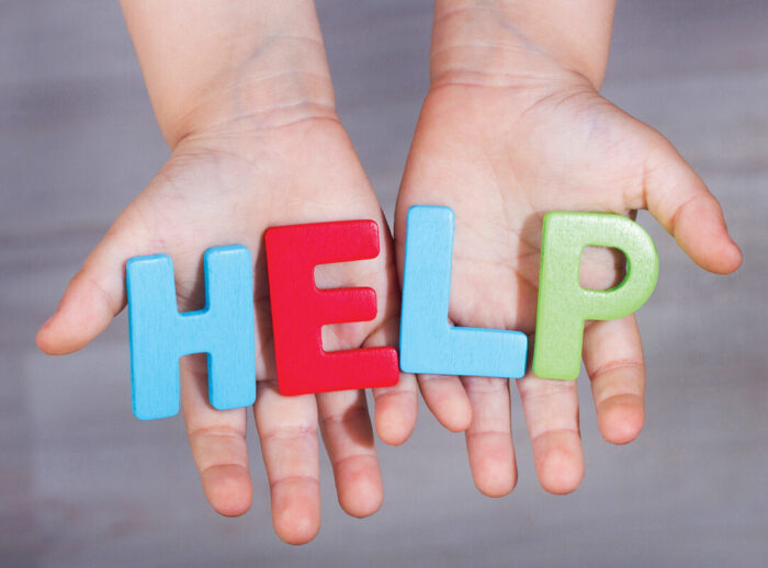 Children seeking help