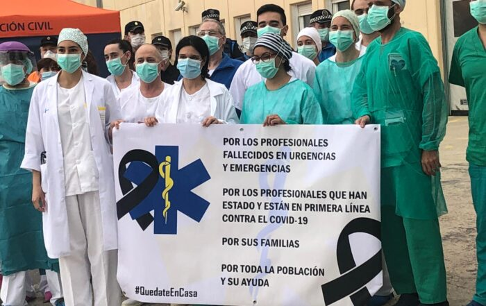 healthcare professionals infected in Spain